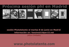 Sesión Photolatente Estudio FANZINE 10x15. Madrid
