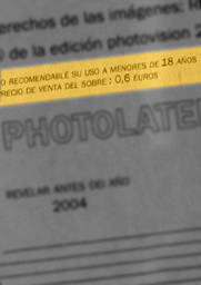 partial reproduction of a Photolatente envelope